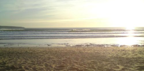 Godrevy beach at sunset