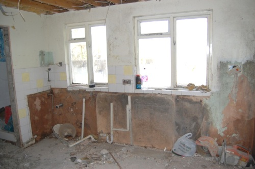 The old kitchen, gutted