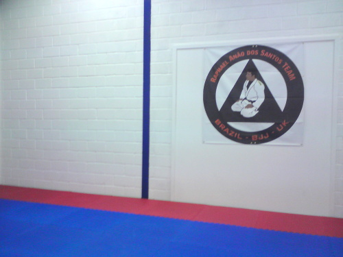 Our club's logo and a nice clean floor and wall