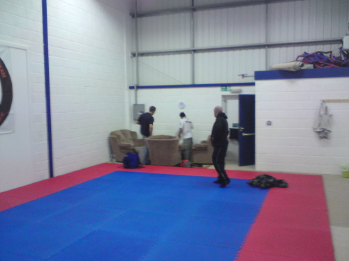 Some of the guys checking out the rest of the gym