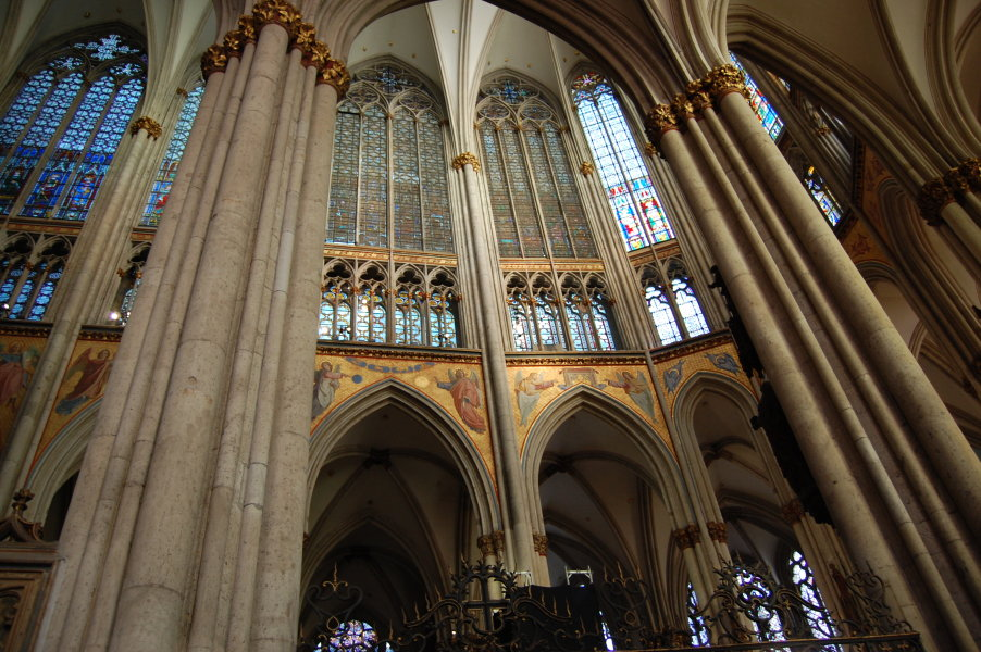 Huge stained windows