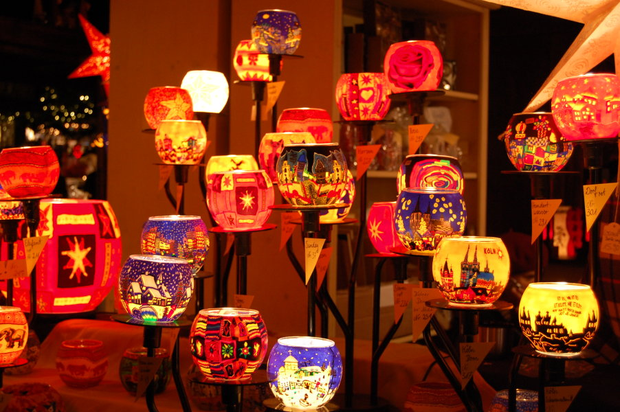 Hand-painted candle lanterns
