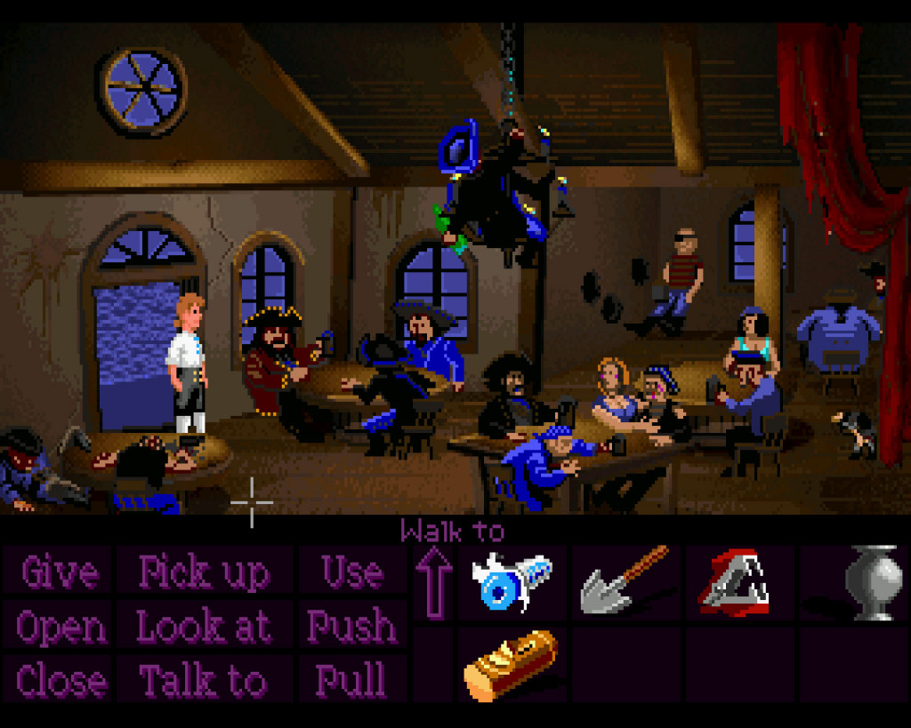 The Scumm bar, one of the first places you'll visit when you arrive on Melee Island